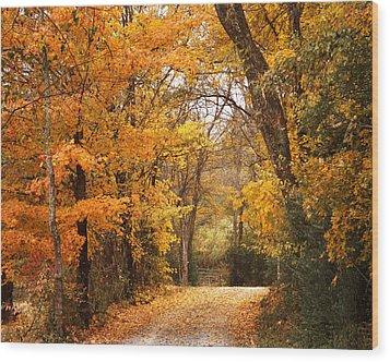 Autumn Gate Wood Print by TnBackroadsPhotos