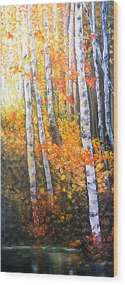 Autumn Glow Wood Print by Patti Gordon