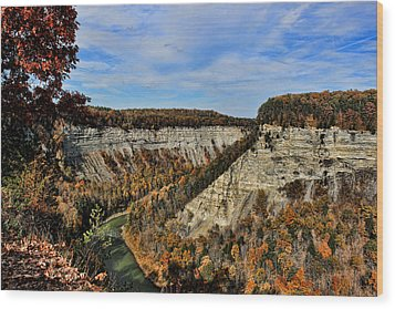 Autumn Gorge Wood Print
