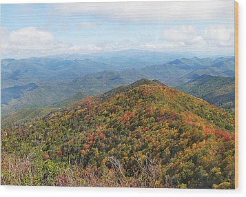 Autumn Great Smoky Mountains Wood Print by Melinda Fawver