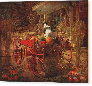 Autumn Harvest At Brewster General Wood Print