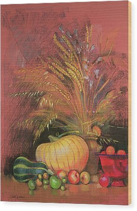 Autumn Harvest Wood Print by Claire Spencer