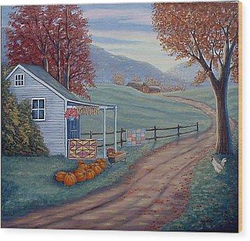 Autumn Harvest Wood Print by Fran Brooks