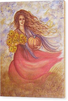 Autumn Harvest Wood Print by Sheri Lauren Schmidt
