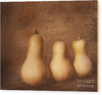 Autumn Harvest Still Life Wood Print by Kathi Mirto