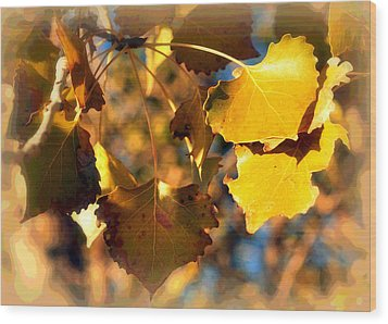 Autumn Hearts Wood Print by Lisa Holland-Gillem