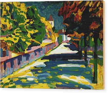 Autumn In Bavaria Wood Print by Wassily Kandinsky