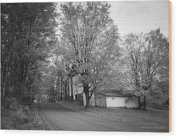 Wood Print featuring the photograph Autumn In Black And White by Phil Abrams