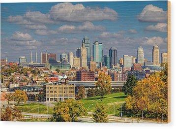 Autumn In Kansas City Wood Print
