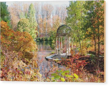 Autumn In Longwood Gardens Wood Print