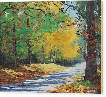 Autumn In Mt Wilson Wood Print by Graham Gercken