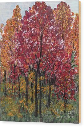 Autumn In Nashville Wood Print