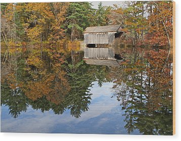 Autumn In New England Wood Print by John Babis