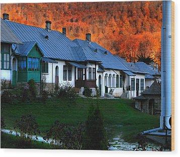 Autumn In Romania Wood Print by Daliana Pacuraru