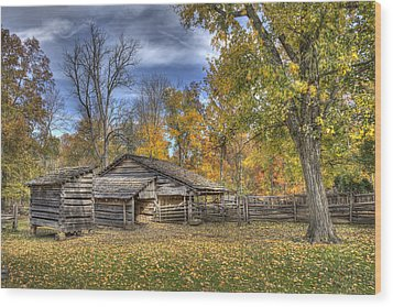 Autumn In Southern Indiana Wood Print by Wendell Thompson
