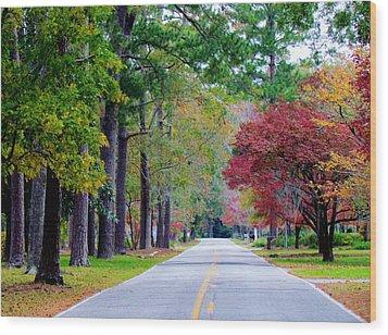 Wood Print featuring the photograph Autumn In The Air by Cynthia Guinn