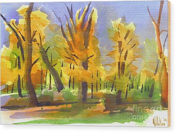 Autumn In The Forest Wood Print by Kip DeVore
