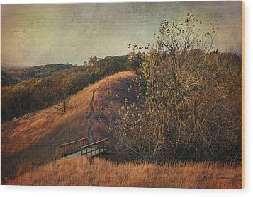 Autumn In The Loess Hills Wood Print by Jeff Swanson