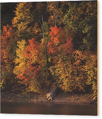 Autumn In The Ozarks Wood Print