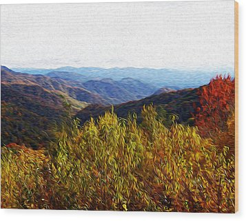 Autumn In The Smokey Mountains Wood Print by Phil Perkins