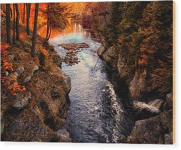 Autumn In West Paris Wood Print by Bob Orsillo