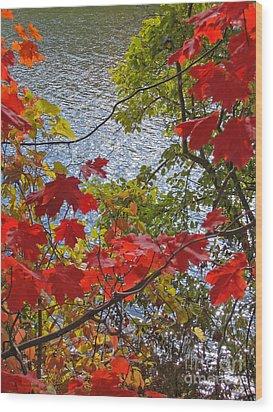 Autumn Lake Wood Print