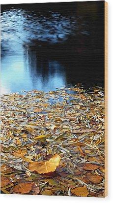 Autumn Lake Wood Print by Steven Milner