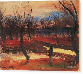 Autumn Landscape Wood Print by Pg Reproductions