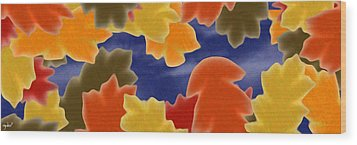 Autumn Leaves Wood Print by Gdw3