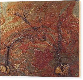 Autumn Leaves Wood Print by Patrick Mock