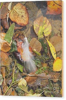 Wood Print featuring the photograph Autumn Leavings by Ann Horn