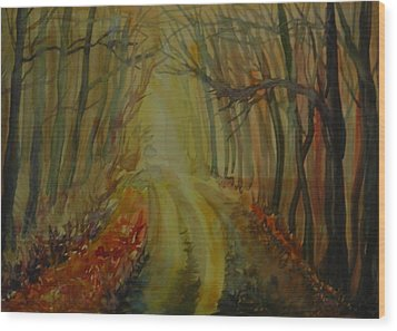 Autumn Light Wood Print by Anna  Duyunova