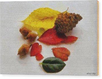 Autumn Medley Wood Print by Jeff Kolker