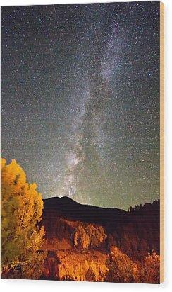 Autumn Milky Way Night Sky  Wood Print by James BO  Insogna