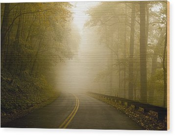 Autumn Mist Blue Ridge Parkway Wood Print by Terry DeLuco