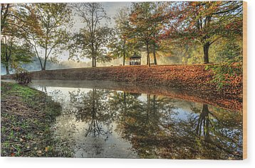 Autumn Morning Wood Print by Jaki Miller