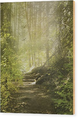 Autumn Myst Wood Print