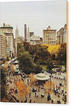 Autumn - New York Wood Print by Vivienne Gucwa