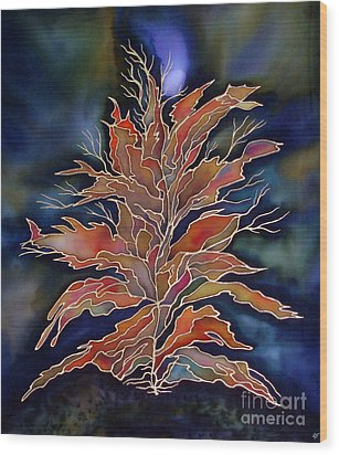 Autumn Nights Wood Print by Ursula Schroter