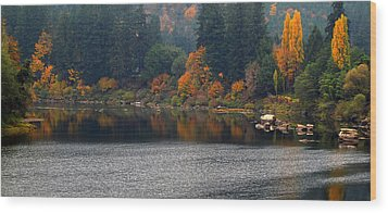Wood Print featuring the photograph Autumn On The Umpqua by Suzy Piatt