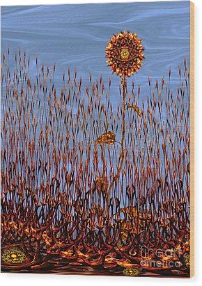 Autumn On Venus Wood Print by Deborah Smith