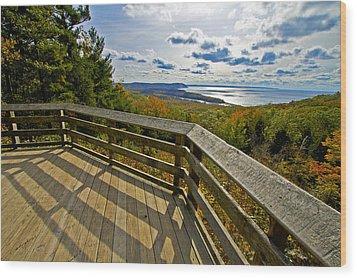 Autumn Overlook Wood Print