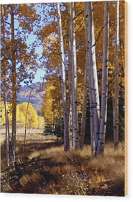 Autumn Paint Chama New Mexico Wood Print by Kurt Van Wagner