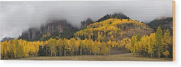 Autumn Panoramic Wood Print by Morris  McClung
