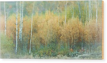 Autumn Pastels Wood Print