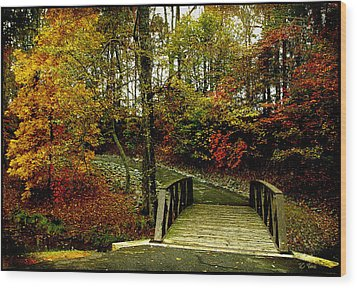 Wood Print featuring the photograph Autumn Peace by James C Thomas