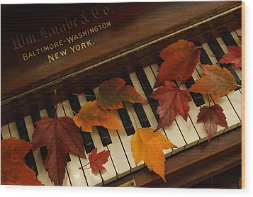 Autumn Piano 14 Wood Print by Mick Anderson