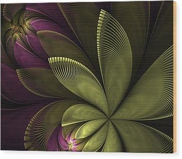 Wood Print featuring the digital art Autumn Plant II by Gabiw Art