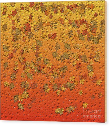 Autumn Rain Wood Print