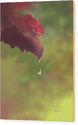 Autumn Rain Wood Print by Kume Bryant